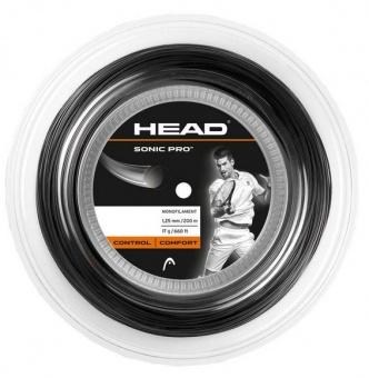 Head Sonic Pro 200m schwarz Tennissaite